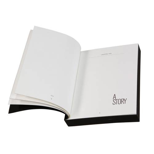 Designer A5 Diary/Journal My Book by Denis Guidone, Black