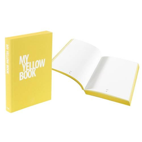 Designer A5 Diary/Journal My Book by Denis Guidone, Yellow