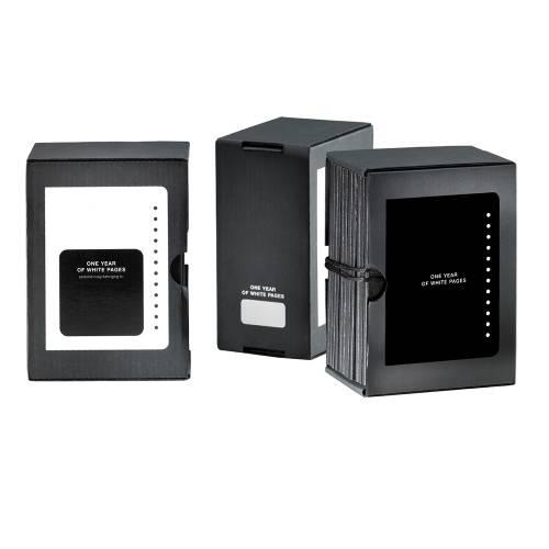 Set of 12 Mini Notebooks, Black