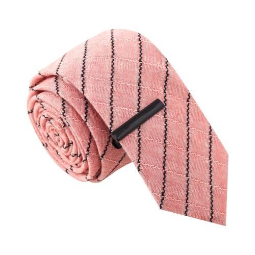 Stripe Tease w/ Tie Clip