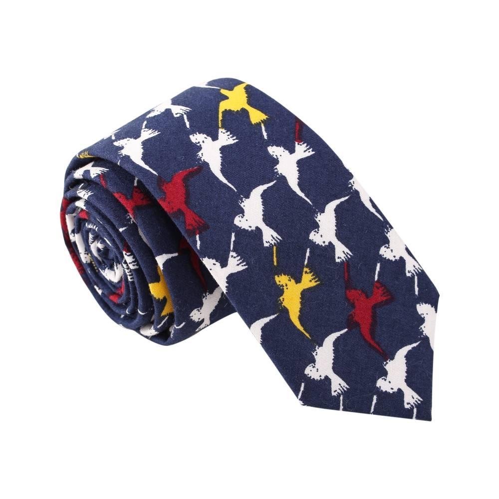 'Attack of the Birds' Navy Tie