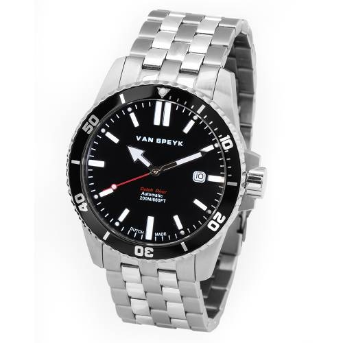 Van Speyk Black Dutch Diver  Watch