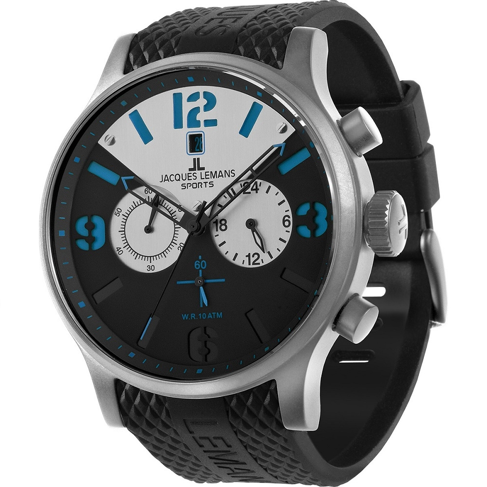 Black / Blue Porto 1-1668 - Jacques Lemans