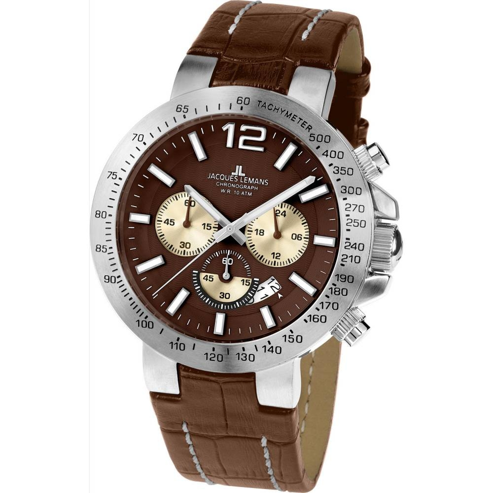Brown / Silver Milano 1-1717 - Jacques Lemans