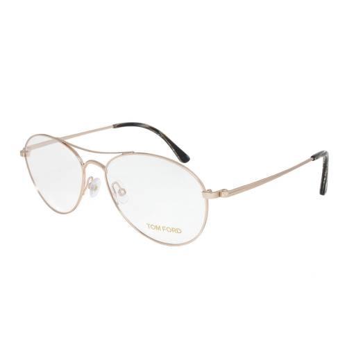 Rose Gold Aviator Eyeglasses Frame   Size 56