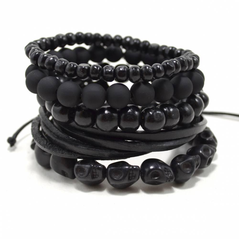 Tag Twenty Two | 5 Pack Black Out Bracelet