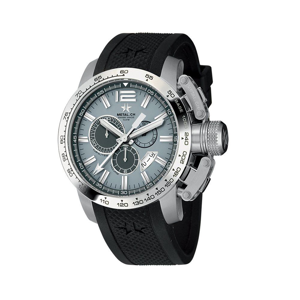 Metal CH Watch   Chronosport 4150