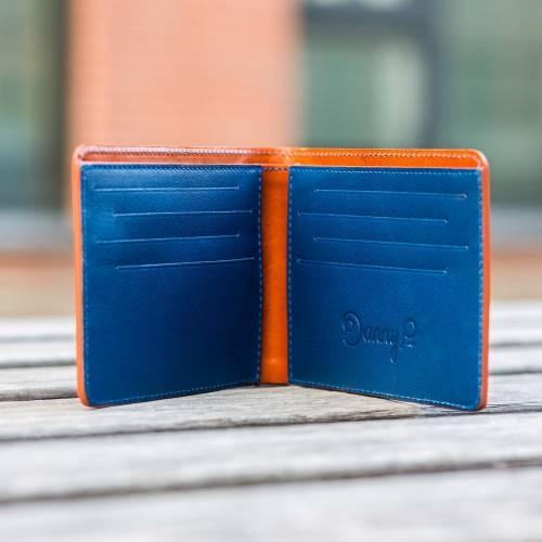 Brown/Blue Slim Wallet
