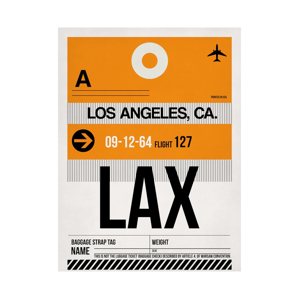 NaxArt | LAX Los Angeles Poster