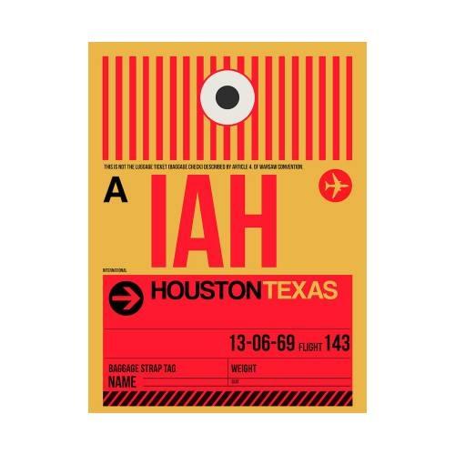 NaxArt | IAH Houston Poster
