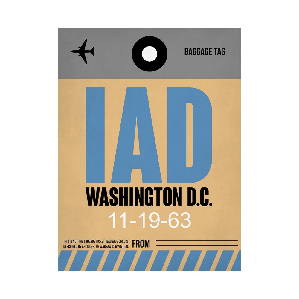 NaxArt   IAD Washington Poster