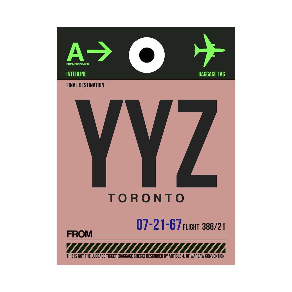 NaxArt   YYZ Toronto Poster