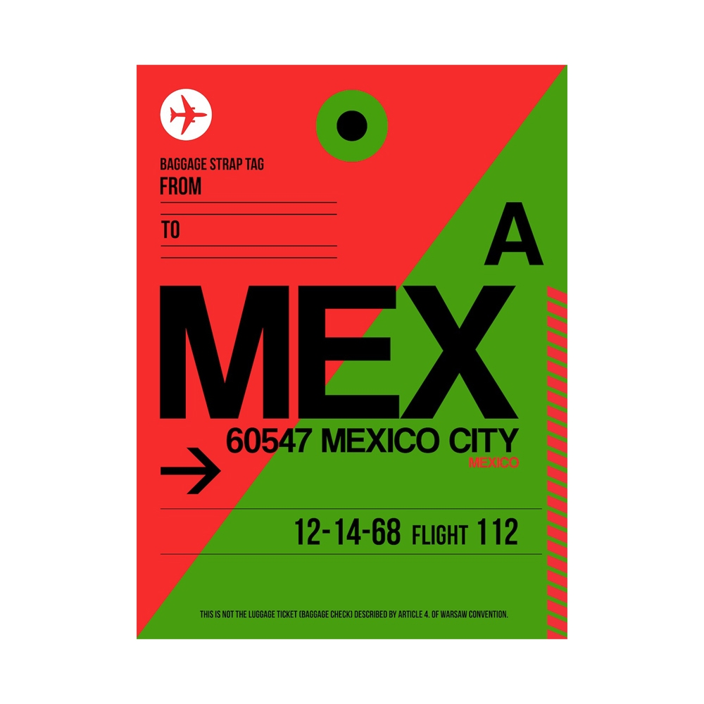 NaxArt | MEX Mexico City Poster
