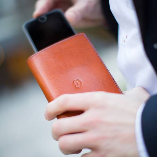 Brown Leather iPhone 6 Wallet Case | Danny P