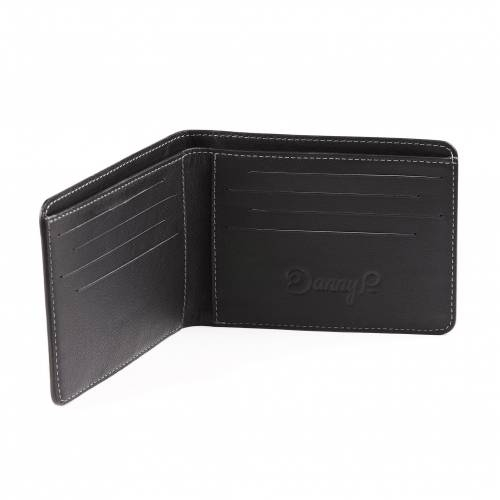 Black Slim Leather Wallet   Danny P