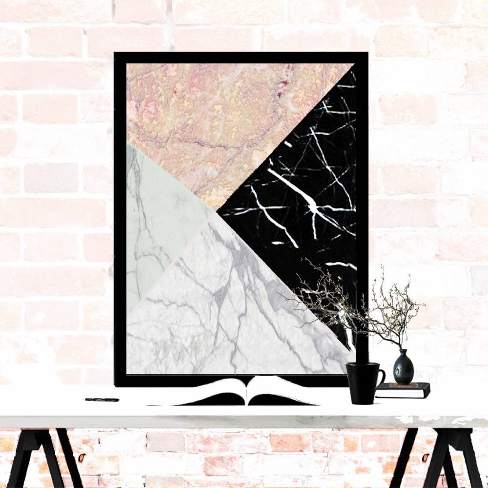 Real Marble Geometric Art Piece | Mikol