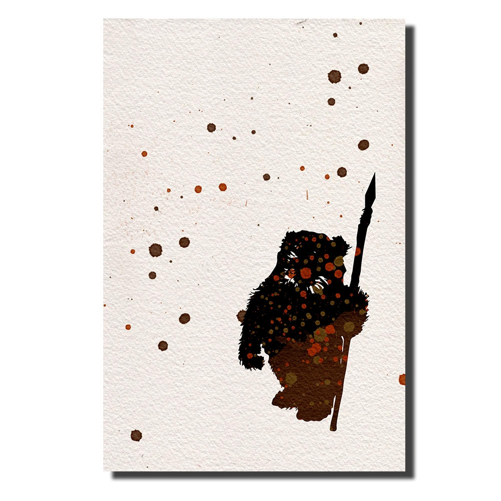 Ewok Watercolor | Power Cosmic