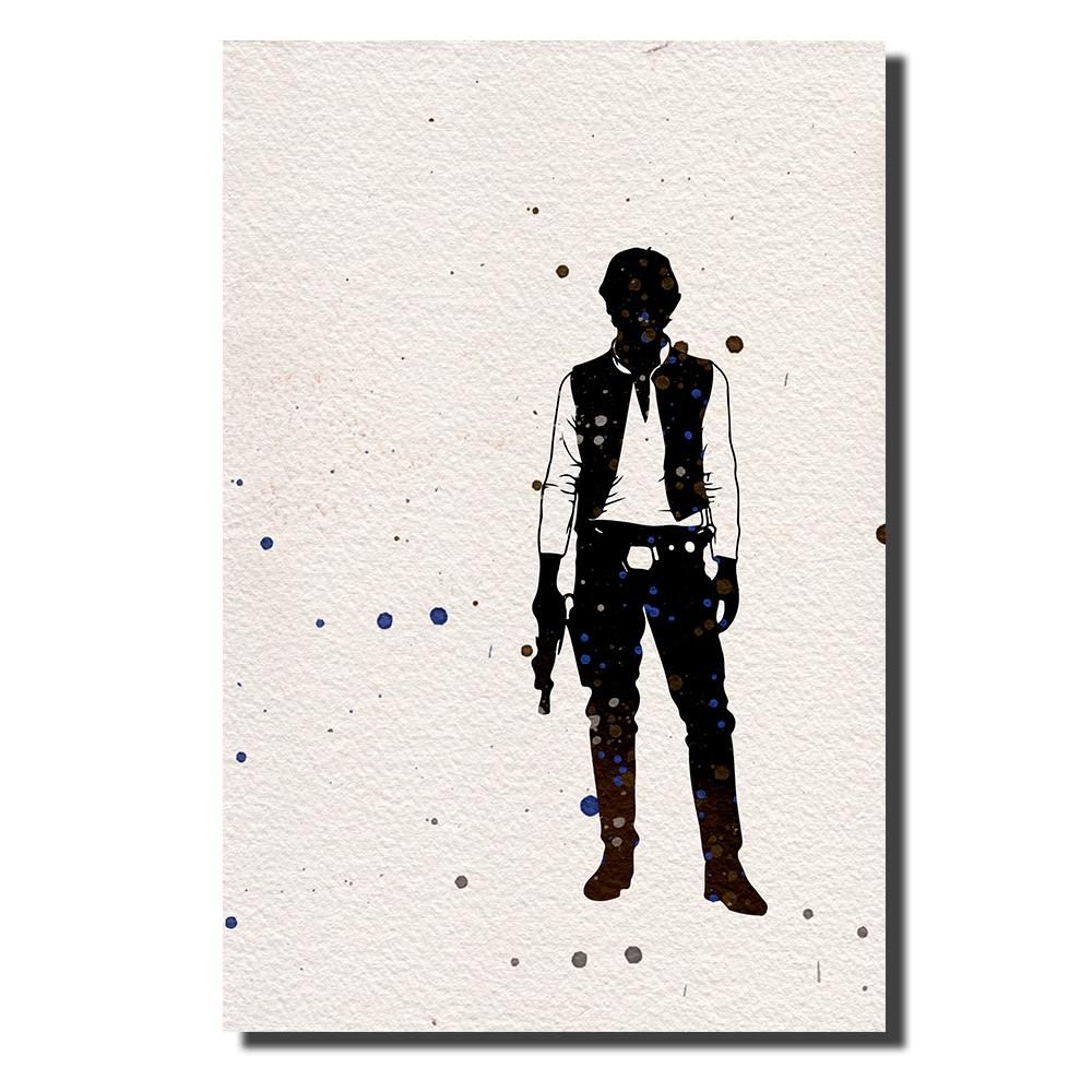 Han Solo Watercolor | Power Cosmic