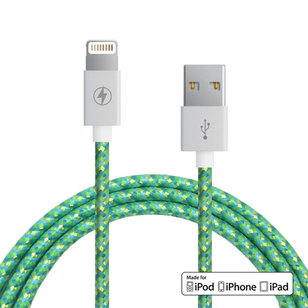 Citrus Mint Lightning Cable  | Charge Cords
