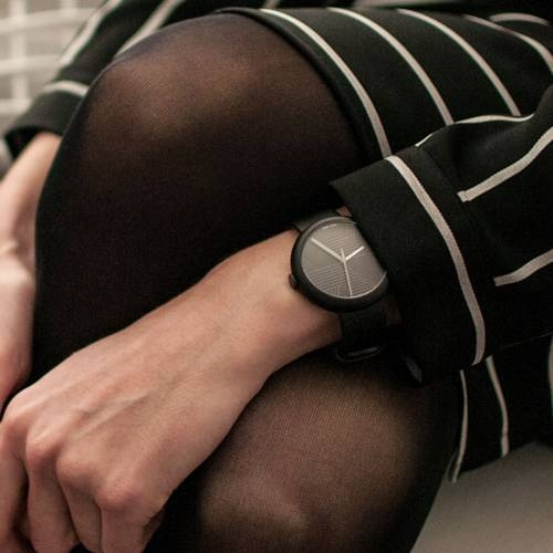 Charcoal/Black Hach | Objest Watches