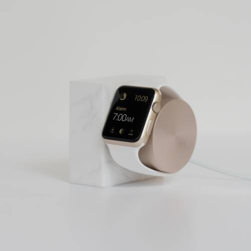 Apple Watch Dock | Native Union | White Marble