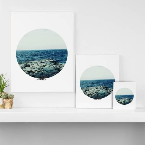 Leah Flores Ocean Blue Art Canvas | Deny Designs