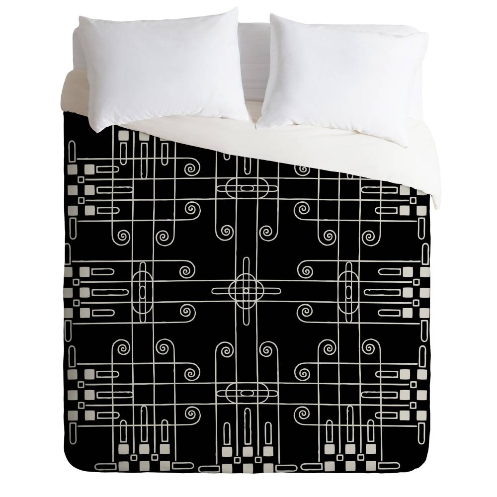 Budi Kwan Links Mono Duvet Cover | Deny Designs