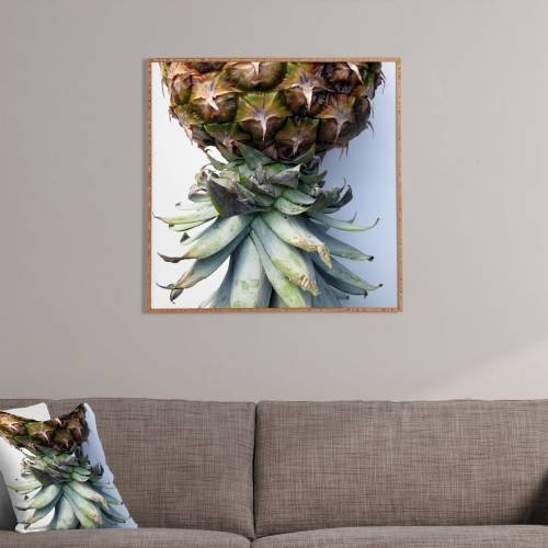 Pineapple 2 Deb Haugen Framed Wall Art | Deny Designs