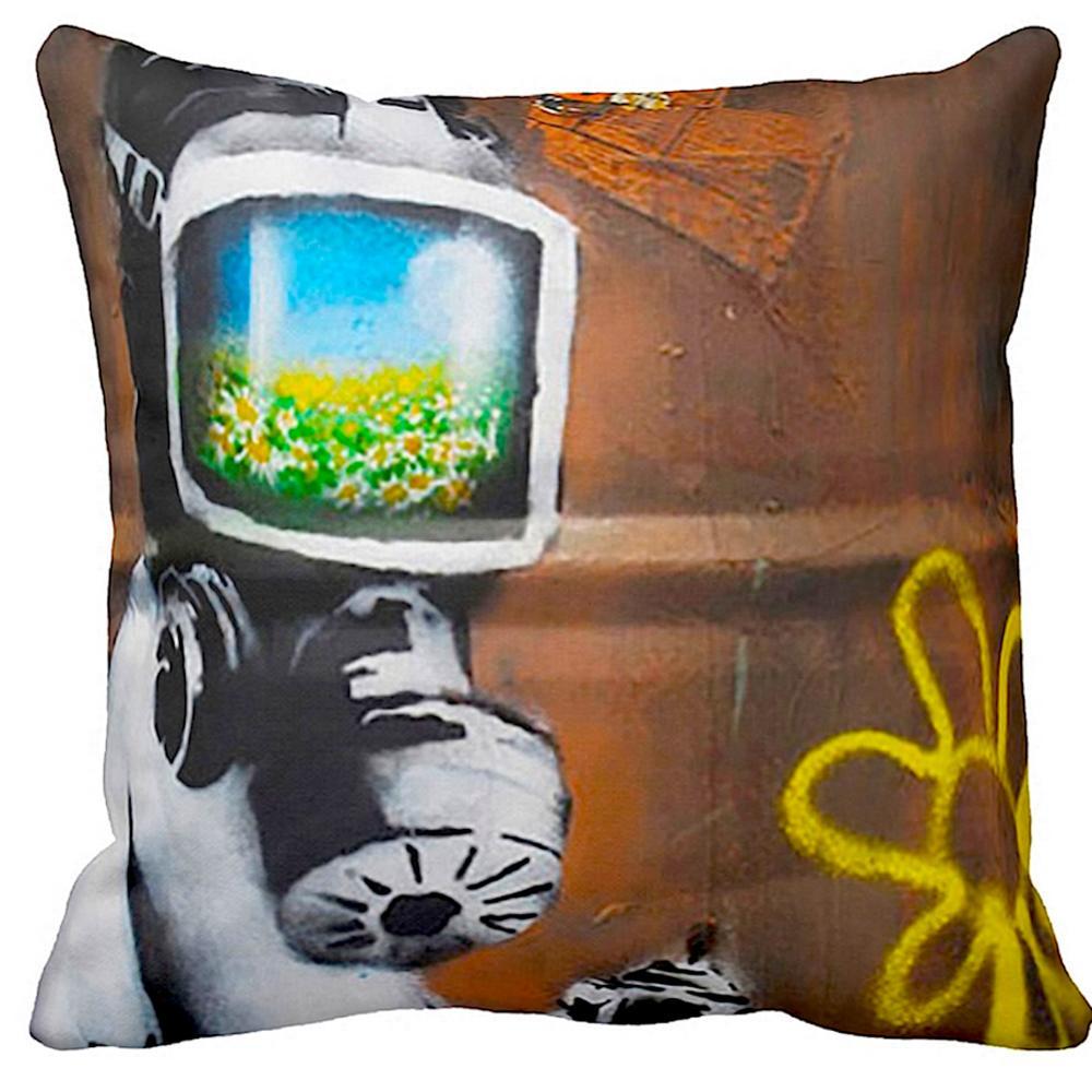 Sunflower Field Gas Mask | Banksy Art | iLeesh