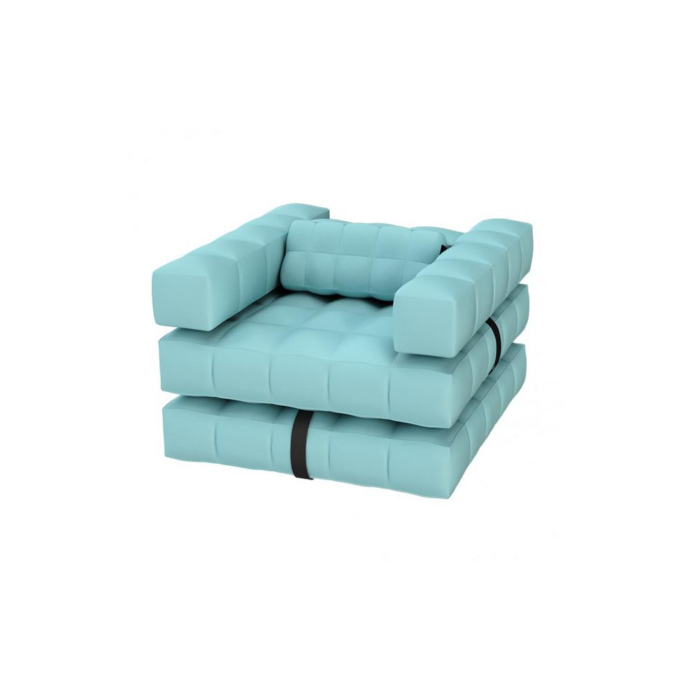 Armchair / Single Lounger Set | Aqua Blue | Pigro Felice