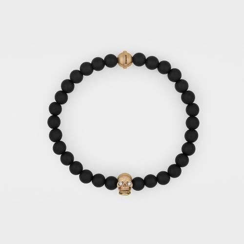 Onyx Bracelet   18ct Rose Gold   Diamonds