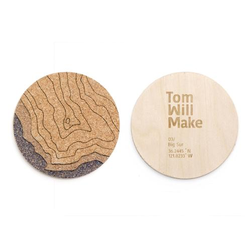 Topo Coasters | Set of 4 | Big Sur