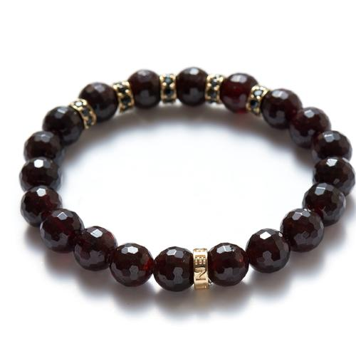 Garnet | Gold Loop Bracelet