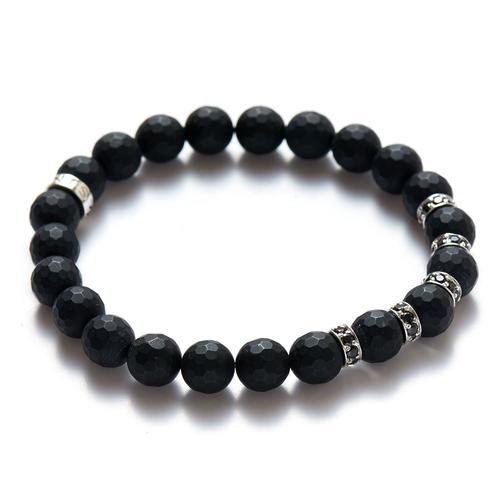 Matte Onyx | Silver Loop Bracelet