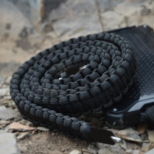 Paracord Lightning Charging Cable | Black