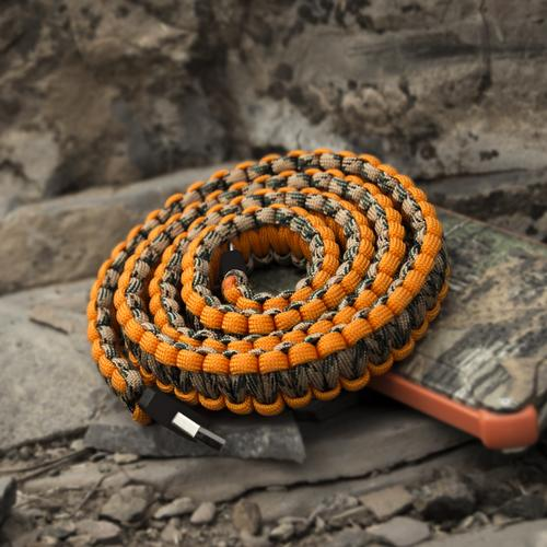 Paracord Lightning Charging Cable | Orange