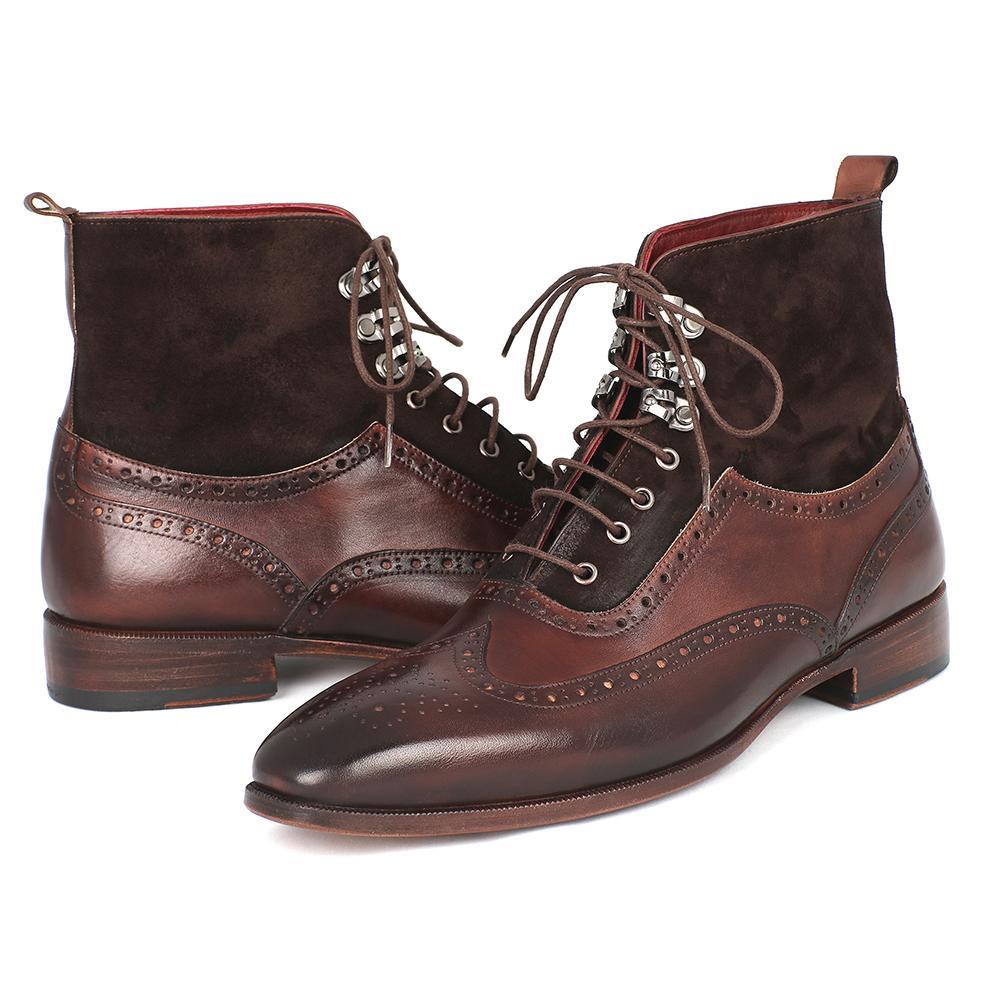 s wingtip boots brown suede calfskin