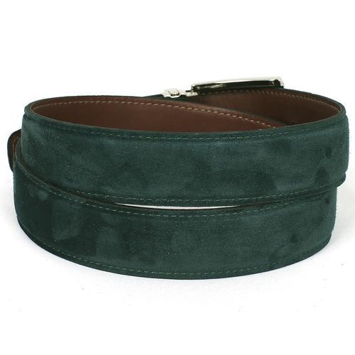 Men's Green Suede Belt   Green