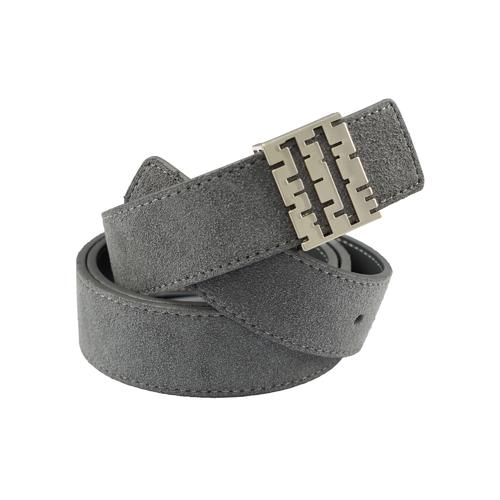 Suede Belt | Gray