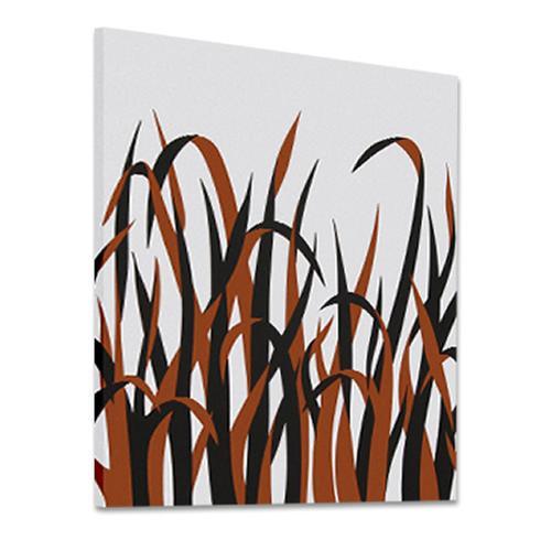 Grasses Orange | MidcenturyArt