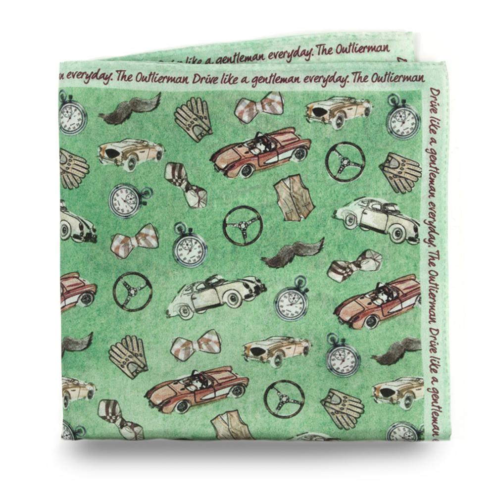 The Gentleman Driver   Silk Pocket Square   The OutlierMan