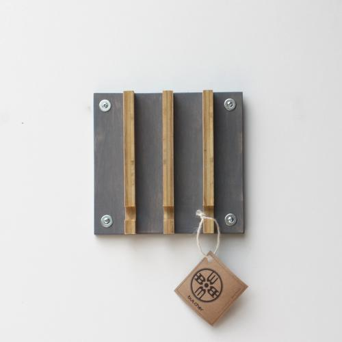 Industrial Modern Key Rack | 3 Hooks