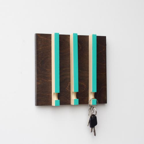 Linear Modern Key Rack | 3 Hooks