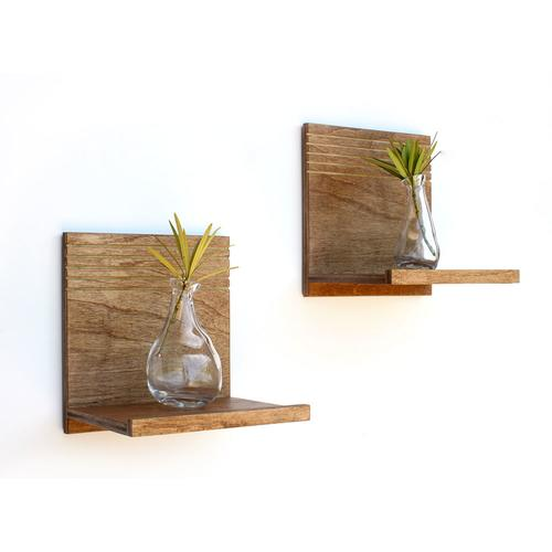 Spa Floating Wood Shelves | Set of 2 | Wood Butcher Designs