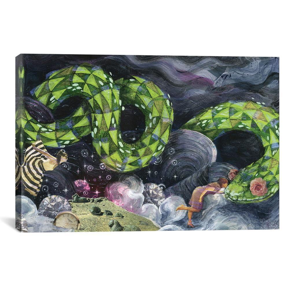 Sparkle Garden by Black Ink Art Canvas Print