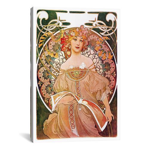 Daydream, 1896 by Alphonse Mucha Canvas Print