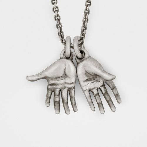 Pair of Hands Pendant | Sterling Silver