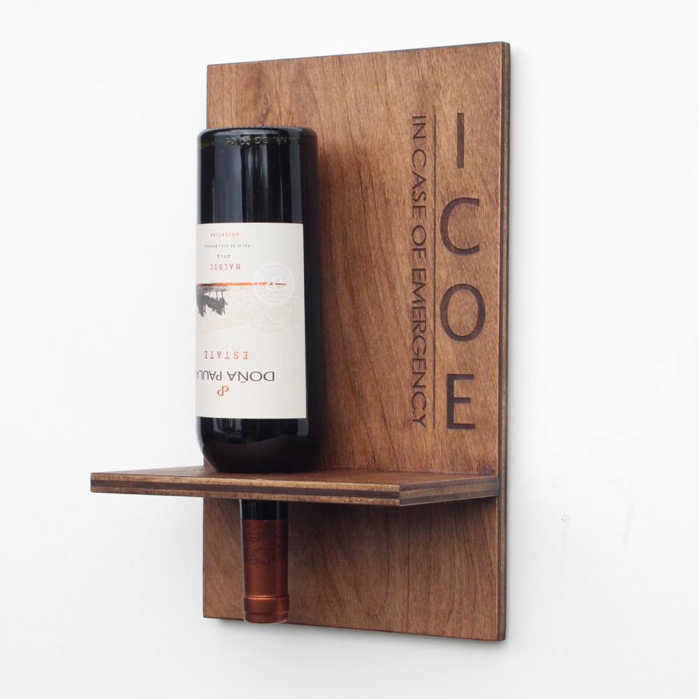 Wall-mounted Wine Bottle Holder   Wood Butcher Designs