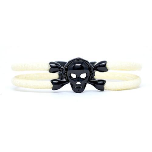 Bracelet | Single Skull | White/Black