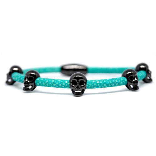 Bracelet | Multi Skull | Turquoise/Black